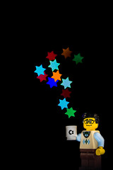 Extra Ordinary Star (KellarW) Tags: hmm coffeecup ordinary bowtie macromondays lego stars macromonday extraordinary star coffee colors
