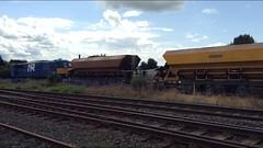 Antrim Ballast, Aug 2014 (nathanlawrence785) Tags: nir ni railways antrim train station railway rail pw pwd permanent way ballast hopper gm 111 112 8111 siding