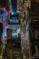 New York By night (FARHI Roger) Tags: newyork night nuit trafic empirestatebuilding