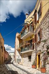 posada (heavenuphere) Tags: posada nuoro sardegna sardinia sardinie italia italy europe island colourful architecture balconies 24105mm