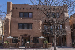 Inn of the Anasazi - Santa Fe -5 (Patrick Gregerson) Tags: 2009 canon7d canonefs18200mmf3556is canonrebelxti march newmexico santafe buildings clearskies cold noon people sunny