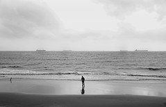 Symmetry (Shadman241091) Tags: symmetry bnw sea ships single alone beach chittagong canon