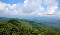 Blue Ridge Mountains from Brasstown Bald (Bella Lisa) Tags: brasstownbald georgia mountain view blueridgemountains clouds vista panorama helengeorgia richardbrussellscenichighway