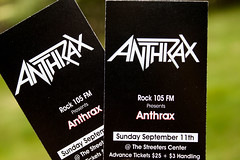 Anthrax! (Jules (Instagram = @photo_vamp)) Tags: tickets concert music anthrax september heavymetalisnotdead