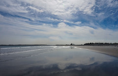 Cherry Hill beach (sarahlynn.hansen) Tags: novascotia beach sky sand clouds cherryhill secluded wispy isolated sandy reflection summer horizon waves tide shore shoreline sunny bluesky canada eastcoast atlantic ocean