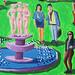Naive Malerei von der Stadt Nizza Frankreich nach dem tödlichen Promenade wurde malerischen Terroranschlag getötet und massakriert Zahlen mörderischen Terroranschläge
