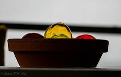 Glaskugeln (Gabriel FW Koch (fb.me/FWKochPhotography on FB)) Tags: glassballs floats glassspheres sphere ball closeup bokeh canon indoor porch telephoto lseries shadow eos dof