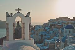 The cross of Oia. (Jordi Corbilla Photography) Tags: oia cross nikon d750 greece jordicorbilla jordicorbillaphotography travelphotography travel sunset pastel colours 50mm