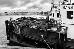 Gloomy tugs (Suicidal_zombie) Tags: russia russie saintpetersburg stpetersburg tug tugs gloomy melancholic melancholy beautiful bw monochrome monotone ship boat neva bigneva water river cloudy overcast dramatic
