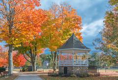 WHITMAN PARK (jlucierphoto) Tags: autumn massachusetts whitman park gazebo fall leaves colors trees