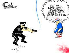 0916 shoot cartoon (DSL art and photos) Tags: donlee editorialcartoon police shooting standfortheanthem death protest