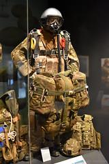 Paratrooper in Full Kit (Bri_J) Tags: iwmduxford cambridgeshire uk iwm duxford nikon d7200 airmuseum aviationmuseum museum imperialwarmuseum paratrooper parachute parachuteregiment britisharmy freefall halo parachutist