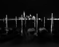 Mooring poles, Venice (mike-mojopin) Tags: venice night longexposure blackandwhite