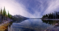String Lake (crowt59) Tags: string lake jackson wyoming pano clouds vapor trails trees scenic crowt59 nikon d810 ultra wide angle hole nikonflickraward