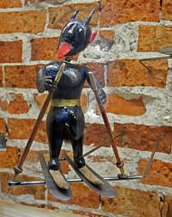 The Devil on Ski (Antropoturista) Tags: poland krakau krakow ethnographicmuseum toy representation devil ski fun divertido fotodivertenti