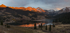 Mountains are earth's undecaying monuments... (ferpectshotz) Tags: colorado fall roadtrip sunset troutlake ophir
