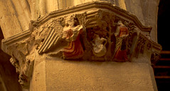 Notre Dame church, Villeneuve-les-Avignon, France (Hipster Bookfairy) Tags: collegiate sculpture virgin biblical angels