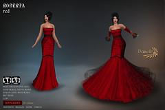 DANIELLE Roberta Red (Dani Plassitz ~Danielle~) Tags: formal blacklace gown frills elegance danielle sl