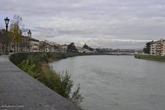Linee di fuga (Robi Cere (no todos los das)) Tags: trip italy landscape italia fiume verona adige fiumeadige