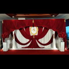 Frabric Decoration BackDrop อลังการงานผ้า Cr. Khun Rut #aesiethewedding