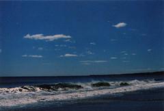 once more (rqlevy) Tags: ocean blue analog 35mm canon xpro crossprocessed waves kodak massachusetts slidefilm tungsten ektachrome canonftb 320t