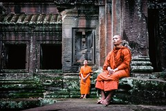 Quiet Contemplation (Trent's Pics) Tags: temple ruins cambodia buddhist monk angkorwat monastery monks meditation spiritual siemreap angkor hindu