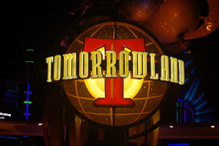 Tomorrowland Sign in Disneyland (GMLSKIS) Tags: california sign neon disneyland disney amusementpark anaheim tomorrowland