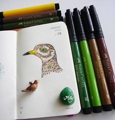 Little Bird (Milagritos9) Tags: pjaro makers birdportrait birddrawing alittlebirdtoldme minisketchbook birdjournal moleskineartpages artistillustratedjournal birdmoleskine