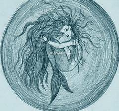 sirenita (Yulia Correal Romn) Tags: people art mar arte drawing illustrations retratos pintura pintar oceano ilustraciones dibujar sirenas mermainds