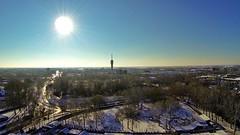 Roosendaal 28 dec '14 (loungerrob) Tags: park winter sneeuw luchtfoto roosendaal televisietoren vrouwenhof antwerpseweg speeltuinvrouwenhof djiphantom hubertsslaapcomfort laanvanbelgie