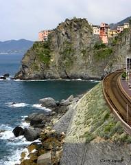 Cinque Terre, Italy (Cat Harper) Tags: ocean travel italy beautiful train wonderful colorful europe italia cliffs coastline cinqueterre travelphotography travelpics seetheworld exploreeurope amazingviews beautifulviews