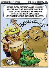 Swampy's #Florida #Webcomic: Desi Arnaz's Entertains for the 1st Time! (Swampy's Florida) Tags: travel tourism coral tour florida cartoon desi biltmore gables webcomic babalu arnaz comoic