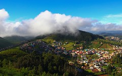 Mountain Village (Freddy Victor) Tags: nature landscape bluesky ooty nilgiris mountainvillage