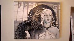 daenerys (mc1984) Tags: portrait painting flickr dragon canvas serie daenerys mc1984 gameofthrones