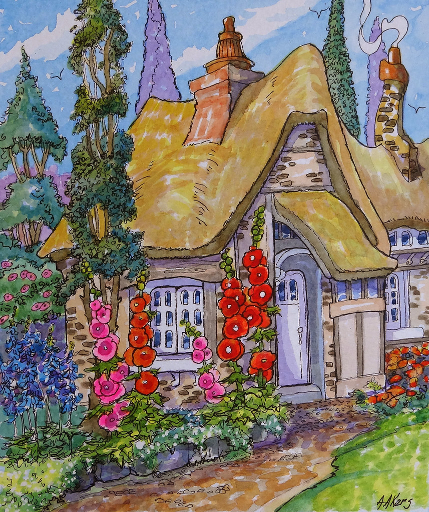 The world 39 s most recently posted photos of storybook and for Watercolor cottages