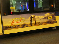 Better Call Saul Bus Billboard AD 2015 NYC 4474 (Brechtbug) Tags: show street new nyc walter white signs man bus face its television hail yellow night reflections booth season for tv call king all remember phone with traffic near good flag name telephone bad like bob icon billboard advertisement bryan pirate angry actor saul poison amc avenue better 8th 47th spinoff breaking goodman odenkirk yellowish cranston 2015 my 01232015