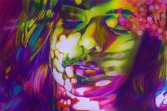 Dreamlight (SkylerBrown) Tags: art artwork beautiful blue brunette coloredpencil colorful dramatic drawing face girl gorgeous green intense light paper pencil pink portrait pretty psychedelia psychedelic redhair skylerbrown sunlight sunset trippy woman california usa sierrajolene originalart