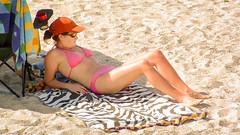 Mommy in a Pink Bikini (Steve Crane) Tags: people woman strand southafrica women harbour bikini swimsuit swimwear gordonsbay westerncape helderberg bikinibeach