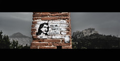 Belle Endormie (tSos Greq) Tags: stencil athens greece grecia atenas acropolis melina lycabettus athnes melinamercouri