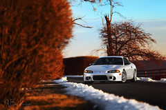 Golden Hour. (Andrew Barshinger Photography) Tags: auto sunset car eclipse dof bokeh automotive f2 mitsubishi dsm goldenhour enkei 6d 135l canibeat