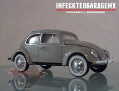 1957 VW Beetle Deluxe European Model (Infecktedgaragemx.) Tags: vw sedan volkswagen deluxe beetle oval vdub vocho m2machines