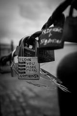 Love Locked (NovaLazyPhotography) Tags: blackandwhite bw love monochrome liverpool dock harbour albert together railing padlock albertdock andybrewer fluteloop1969
