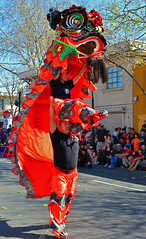 Lion Dance, Berkeley (Courtney Thompson) Tags: california new holiday color st berkeley dance nikon year chinese lion streetphotography celebration fourth lunar
