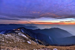 ~~ Snow,after the sunset (Shangfu Dai) Tags: travel sunset snow clouds landscape nikon taiwan adventure  formosa    d800  hehuan  1635mm  3416m afs1635mmf4