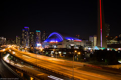 The Gardiner at Night (FollowFiend) Tags: toronto to downtown city canada gardiner highway