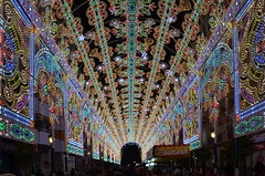 Valencia Fallas Street Illumination (gerard eder) Tags: world street travel espaa valencia noche spain europa europe fiesta nacht illumination streetlife viajes spanien beleuchtung reise stadtfest nght streetfestival fallas iluminacin festbeleuchtung fiestadesanjos