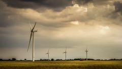 No wind No power (aj_nicolson) Tags: appicoftheweek turbines wind clouds fields crops wheat landscape countryside rural power