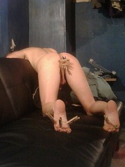 Punishment (ericgieseking1) Tags: nude naked ass myassfeet bareass butt barefoot balls bareleg bare barebutt testicles toes sole soles spanking spanked torture punishment punished