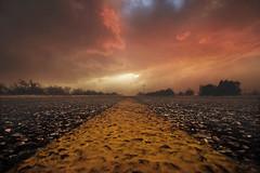 WARNING Dust Storm Ahead (Steven Kuipers) Tags: southernarizona arizona blacktop road blowingdust sunset storm street highway monsoon duststorm