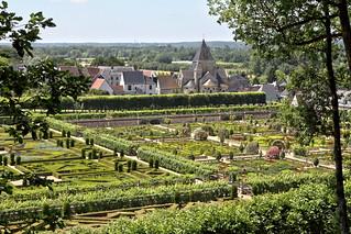 Villandry - jardins et église